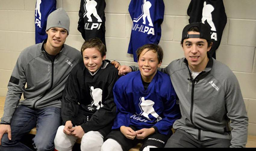 GAUDREAU & RAYMOND SURPRISE KIDS AT CARDEL ARENA IN CALGARY