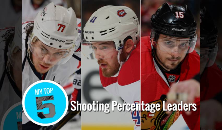 Top 5: Shooting percentage leaders