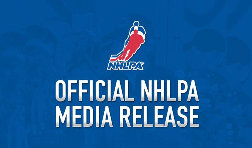 NHLPA Statement on Lokomotiv Yaroslavl Plane Crash