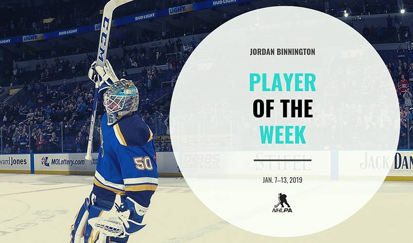 Player of the Week | Jordan Binnington
