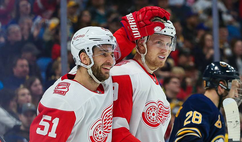 Red Wings agree with Mantha on 2-year, $6.6 million contract