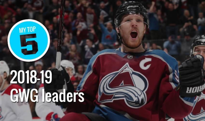 My Top 5 | 2018-19 GWG leaders at the break