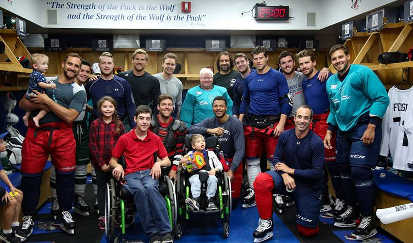 Fellow players rally for Foligno, pediatric care