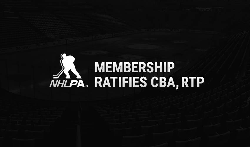 NHLPA ratifies new CBA with NHL and resumption of 2019-20 season