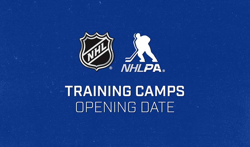 NHL, NHLPA agree on opening date for formal training camps