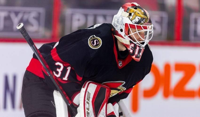 Goaltender Anton Forsberg signs one-year extension with Ottawa Senators