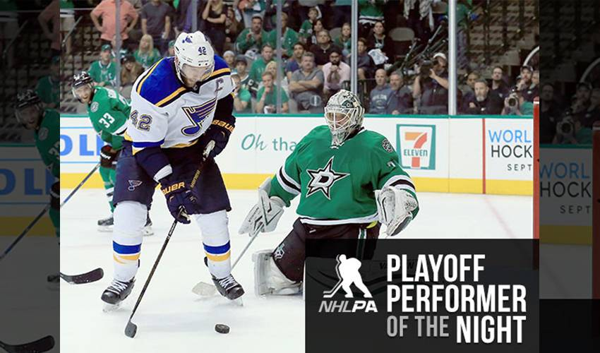 Backes Lifts Blues In Game 2
