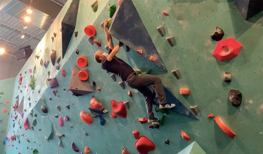 It's to the mountains for Nate Schmidt, but first – bouldering