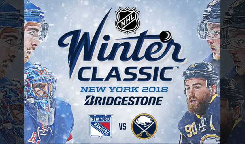 RANGERS & SABRES FEATURED IN 2018 BRIDGESTONE NHL WINTER CLASSIC
