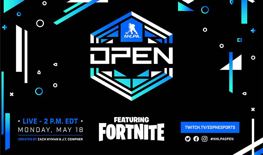 NHLPA Open featuring Fortnite: 60+ NHLPA members compete May 18 for $200K charity prizing