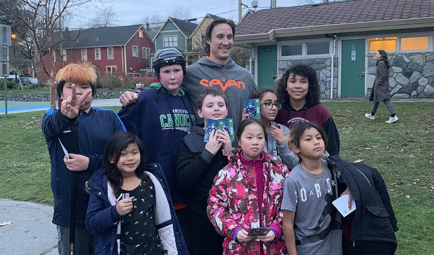 Homework then hockey: Beagle connects with East Vancouver youth