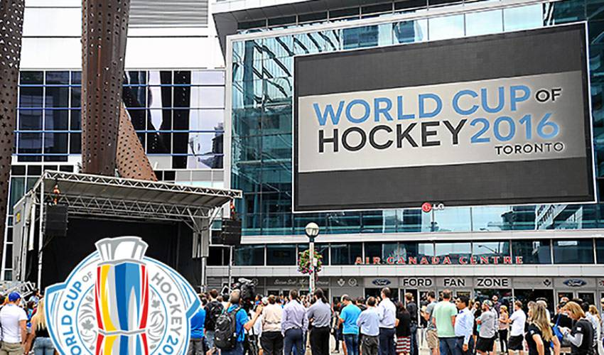 WORLD CUP OF HOCKEY VIEWING PARTY MOVES TO MAPLE LEAF SQUARE