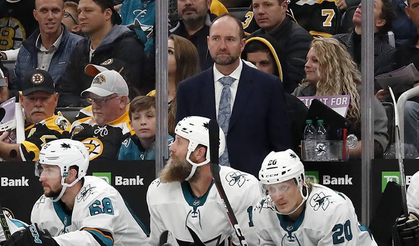 Sharks seek new voice after firing coach Peter DeBoer