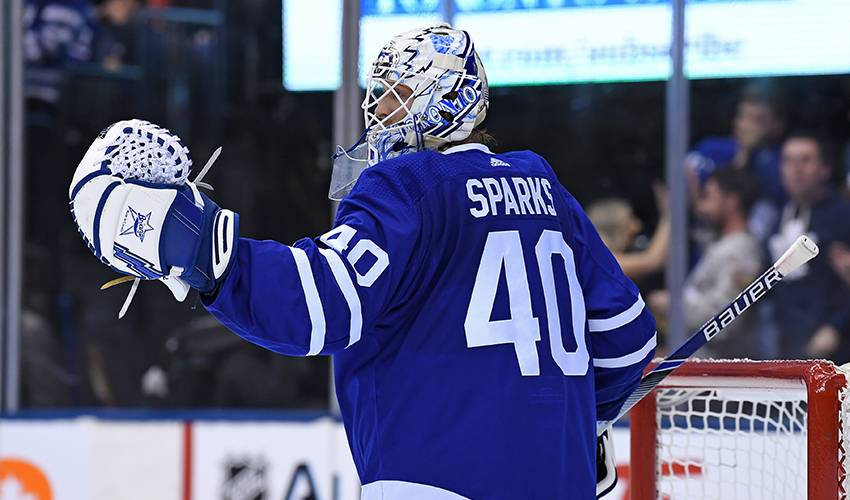 Maple Leafs sign goaltender Garret Sparks to one-year contract worth $750,000