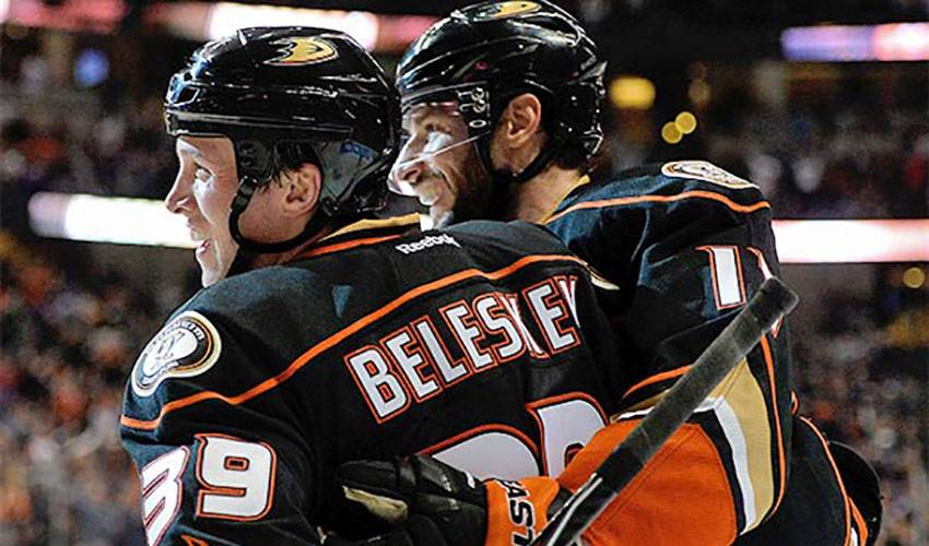 BELESKEY STRIKING A CHORD IN ANAHEIM