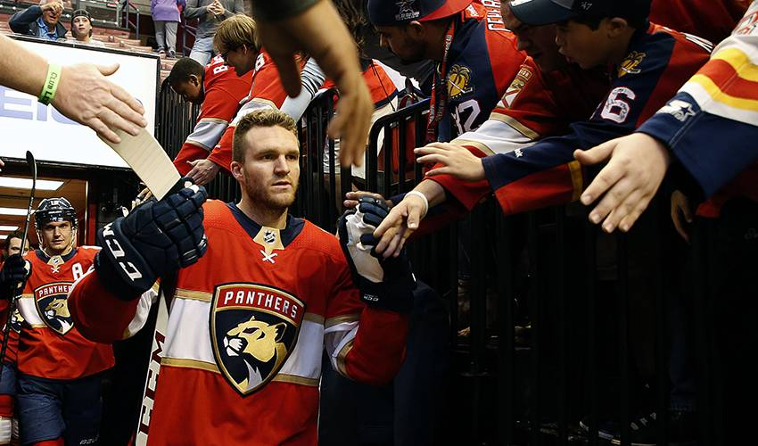 Huberdeau impresses teammates with leadership in career year