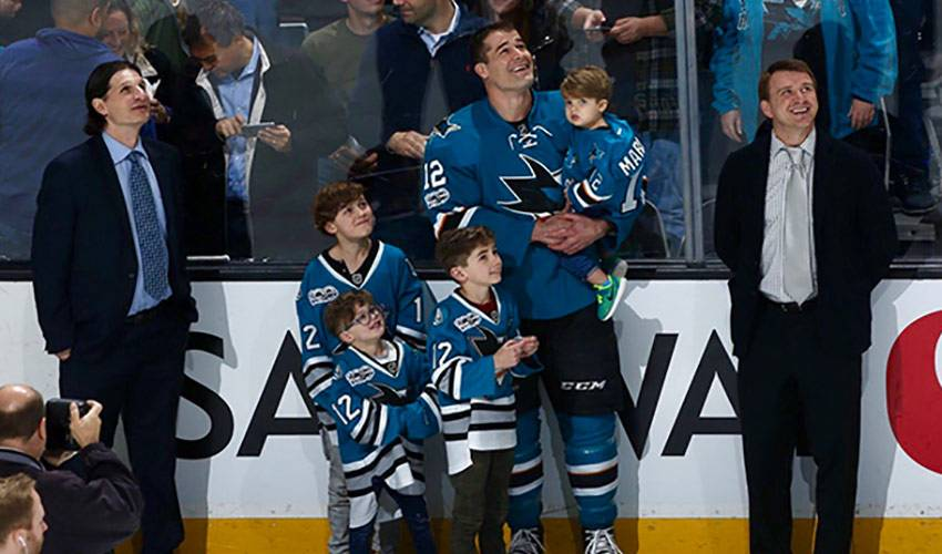 Marleau Passing Down the Love of the Game