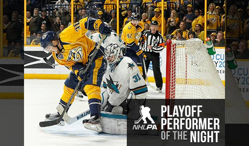 Arvidsson Takes Preds To Game 7