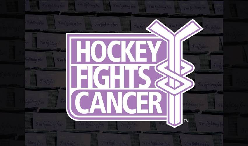 ANNUAL HOCKEY FIGHTS CANCER CAMPAIGN NOW UNDERWAY