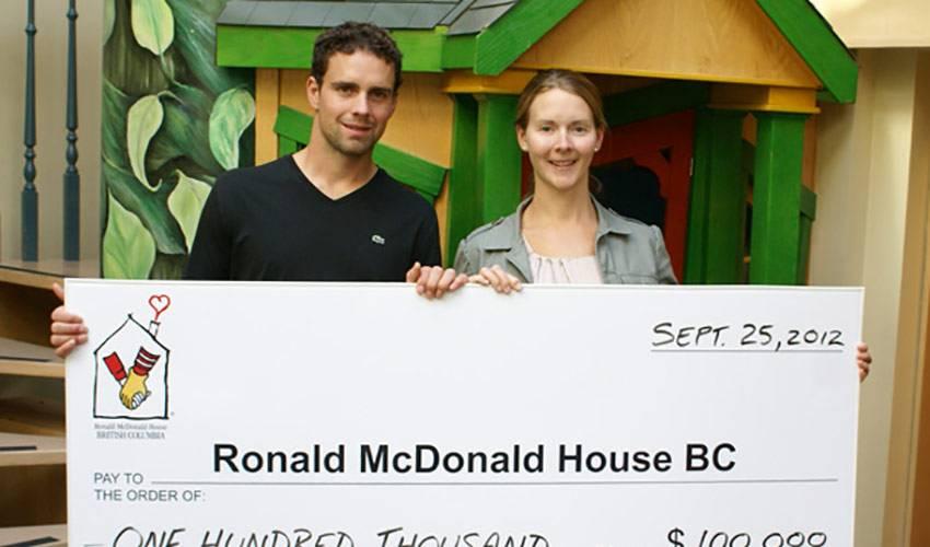 Hamhuis Family Donates $100,000 to Ronald McDonald House BC