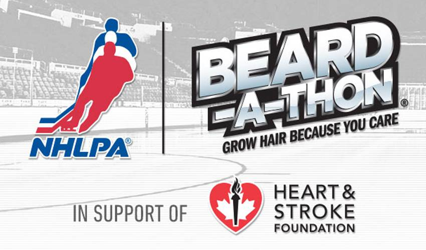 NHLPA and the Heart and Stroke Foundation join together for third straight year on NHLPA Beard-a-thon