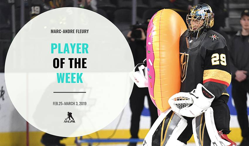 Player Of The Week Marc Andre Fleury Nhlpa Com