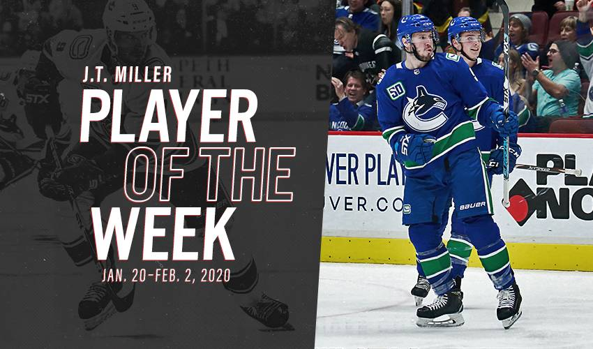 Player of the Week | J.T. Miller