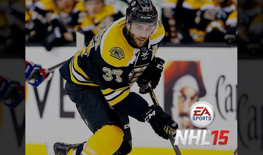EA SPORTS ANNOUNCE PATRICE BERGERON AS FAN-SELECTED NHL 15 COVER ATHLETE