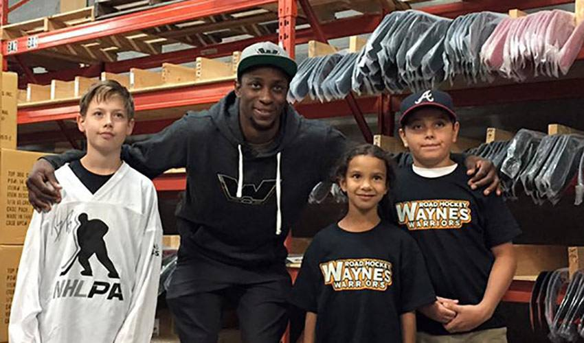 Simmonds Is Committed To HIs Community