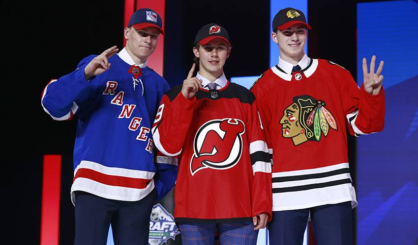 Devils select Jack Hughes first overall at NHL draft; Rangers take Kakko No. 2