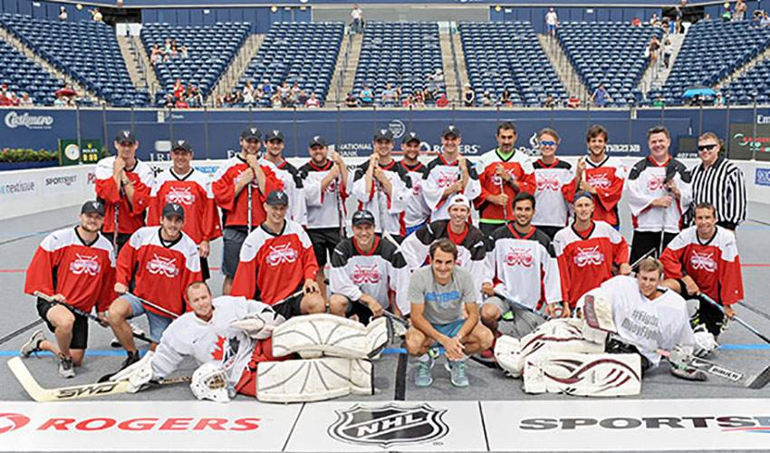 Spezza Holds Court With Tennis Legend
