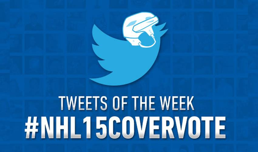 Top Player Tweets of the Week: #NHL15CoverVote