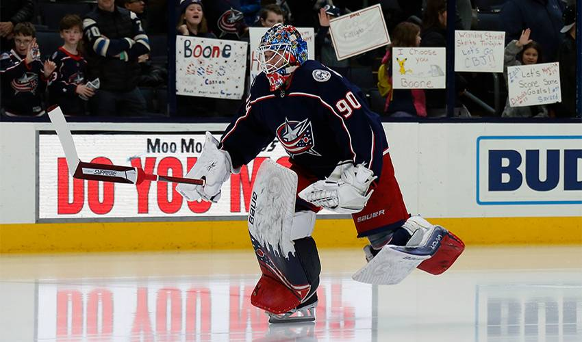 Blue Jackets sign goalie Merzlikins to 2-year contract