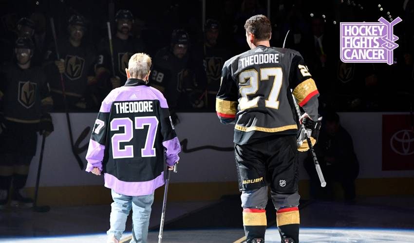 A man of few words, Shea Theodore has an important message