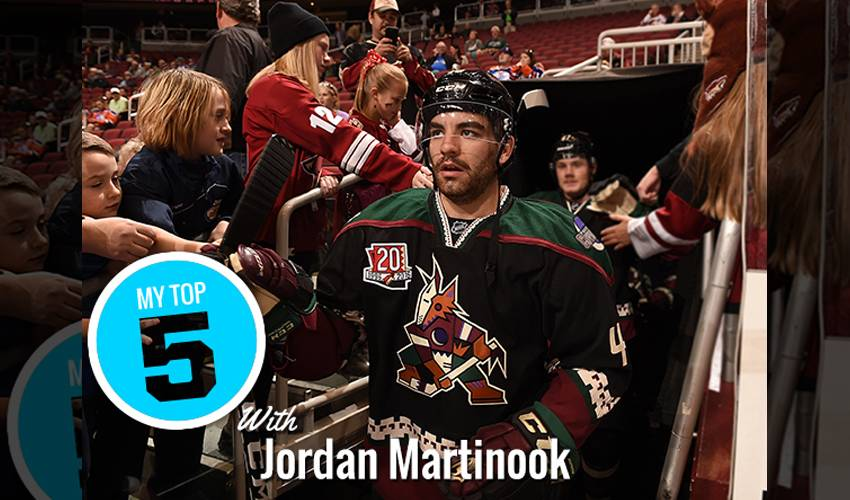 My Top 5 | Jordan Martinook