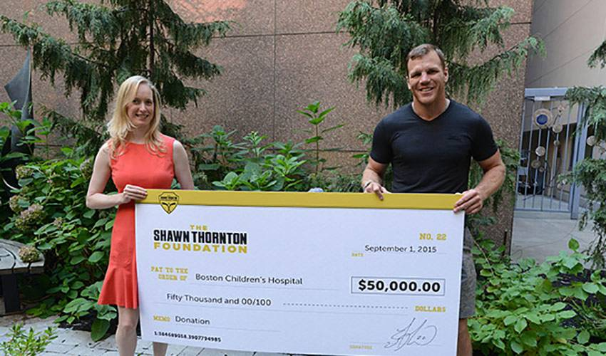 His foundation is thriving, but Shawn Thornton wants to do more