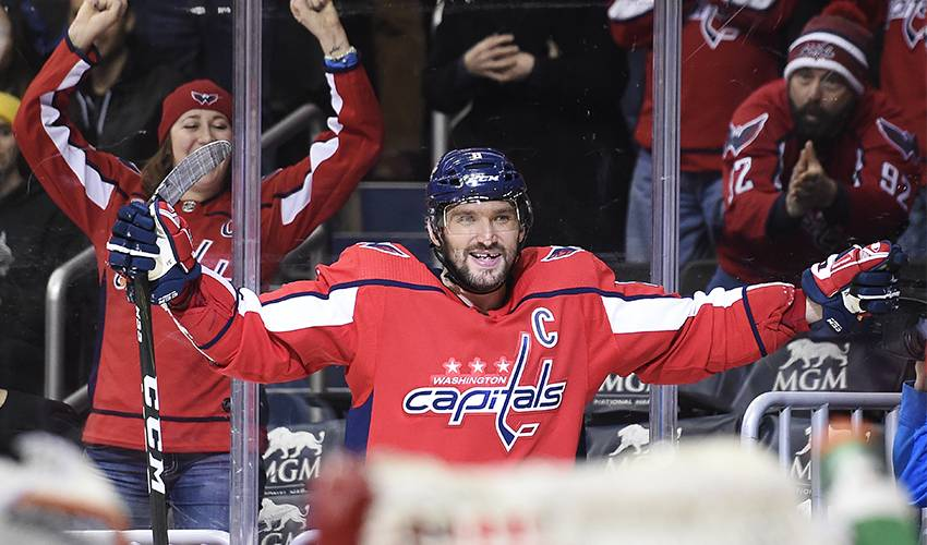 Ovechkin passes Fedorov for Russian scoring record in NHL