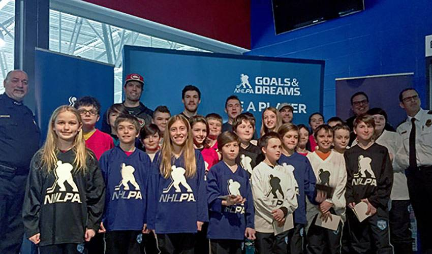 NHLPA Donates 25 Sets of Equipment to Deux-Montagnes Police Force Hockey Program in Montreal