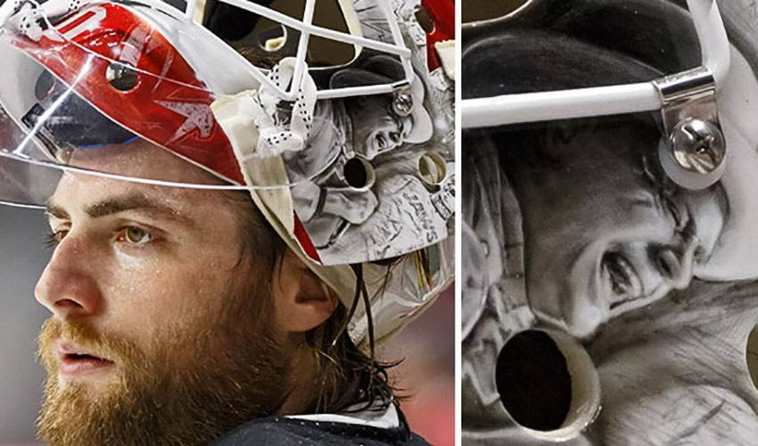 BRADEN HOLTBY'S WORLD CUP OF HOCKEY 2016 GOALIE MASK  RAISES OVER $27,000