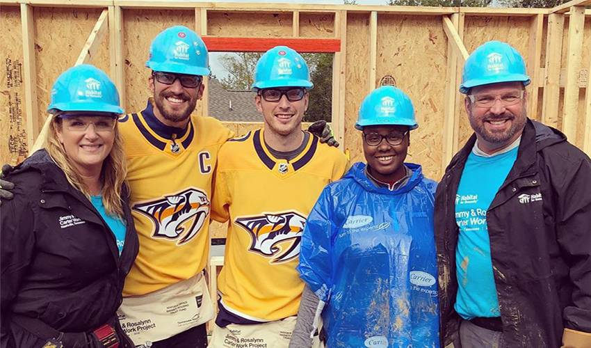 Duchene feeling at home, helping build another in Nashville