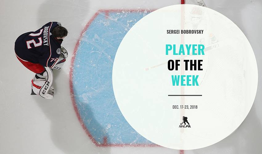 Player of the Week | Sergei Bobrovsky