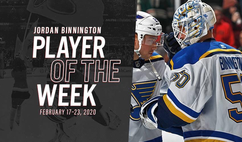 Player of the Week | Jordan Binnington