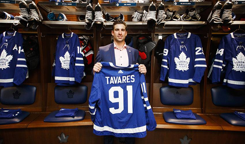 c57945b59 John Tavares might finally add a Toronto Maple Leafs jersey to his closet. Uncle  John Tavares