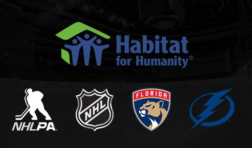 Panthers, Lightning, NHL, & NHLPA Build Homes Affected By Hurricane Irma in Partnership With Habitat for Humanity