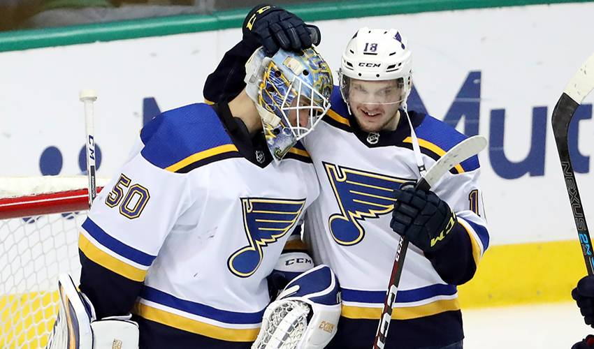Goalie Binnington a steady rookie rock as Blues advance