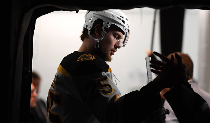 Defenceman Carlo signs 2-year extension with Bruins