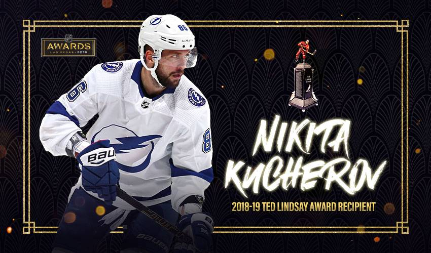 NHLPA members select Nikita Kucherov as 2018-19 Ted Lindsay Award recipient