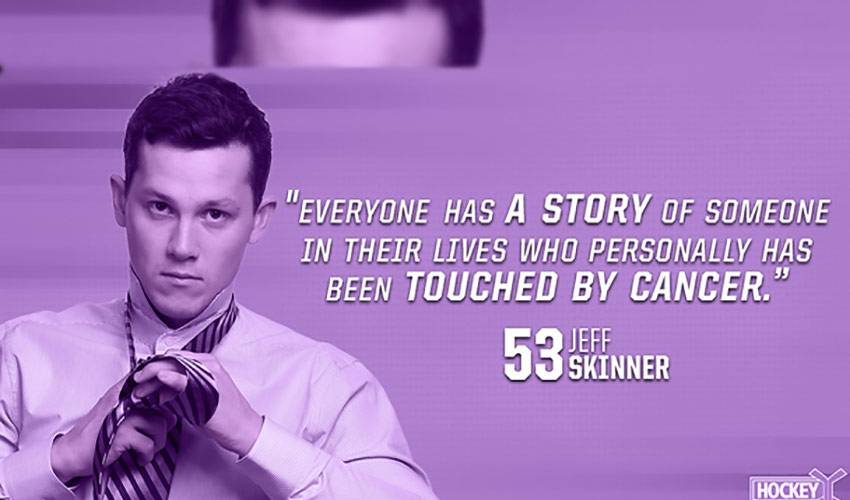 A Hockey Fights Cancer message from Jeff Skinner
