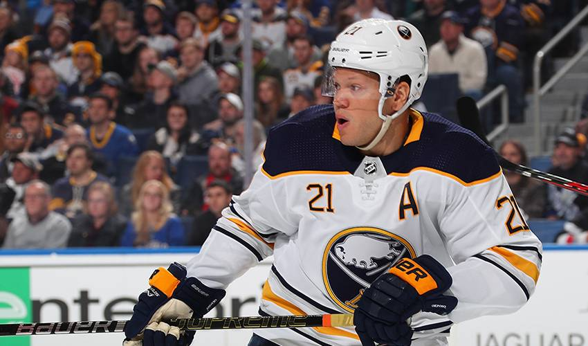 Sabres place Kyle Okposo on IR; demote Pilut to AHL
