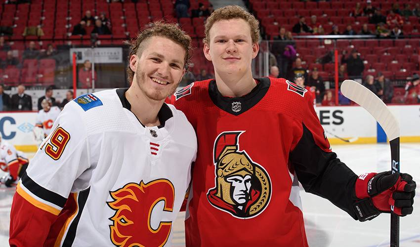 Flames/Sens series a special showdown for Tkachuk brothers